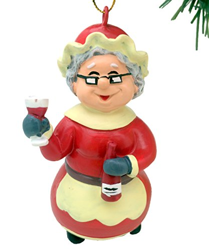 (Tree Buddees Wine Mrs. Claus Christmas Ornament)