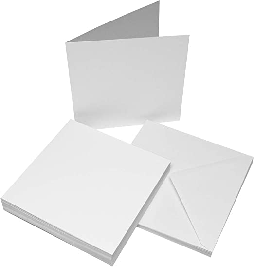 41 Choices of Blank Cards /& Envelopes White Ivory Black Pastel /& Bright Colours