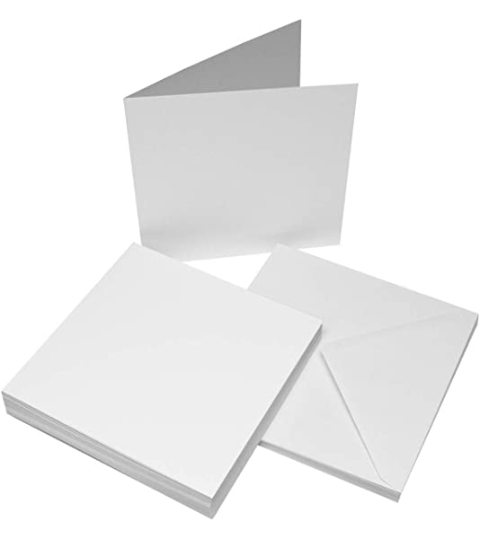 "8/"" x 8/"" Plain Cards with Envelopes for DIY card-making"