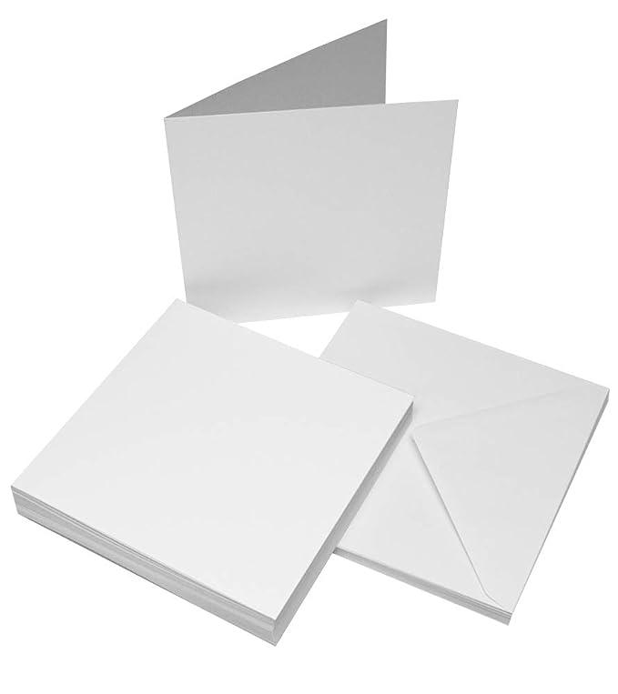 Craft Manualidades UK 50/Tarjetas de Marfil y Sobres 6/x 6