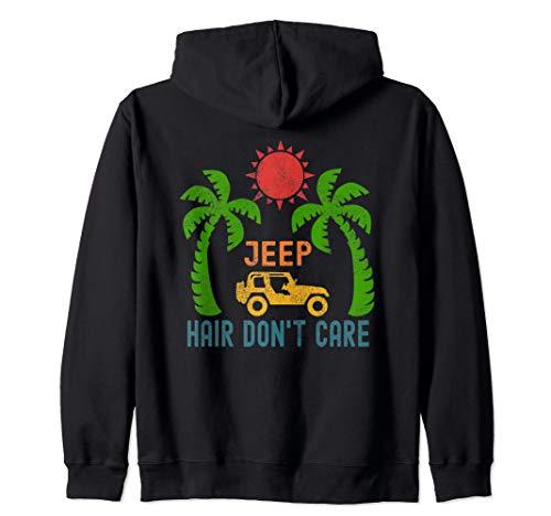 Women Jeep-Hair Don't Care Jeeps Beach Jeeps Offroad Jeeps Zip Hoodie