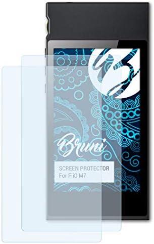 Bruni Schutzfolie kompatibel mit FiiO M7 Folie, glasklare Displayschutzfolie (2X)