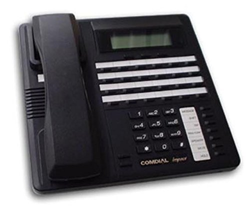 Comdial Impact SCS 8324S-FB Flat Black 24 Button Digital Telephone with Speakerphone and Display