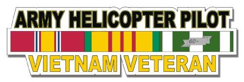 U.S. Army Helicopter Pilot Vietnam Veteran Window Strip Window Bumper Sticker Decal 3.8