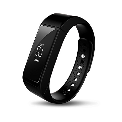 iWOWNfit i5 plus Fitness Tracker Smart Bracelet Band with Deep Light Sleep Monitor and Call Text Display - Steps Track Calories Counter Activity Touch Screen Wristband for Android and iOS(Black)