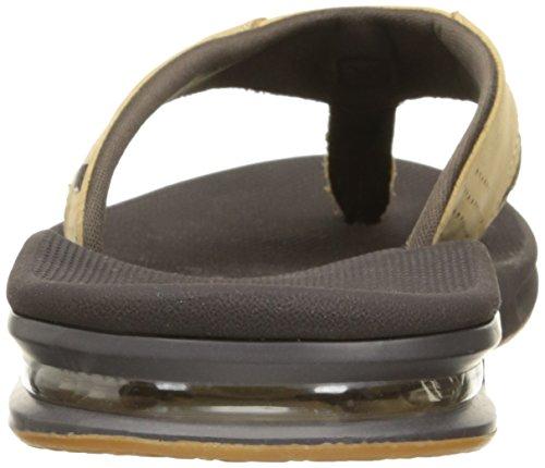 Rev Mens Läder Fanning Sandal Tan Vävda