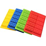 Zicome Set of 4 Candy Molds and Ice Cube Trays, Building Blocks Molds