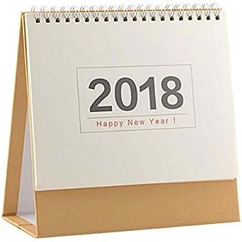 natural cute 2018 officehome calendar desk standing calendar no print
