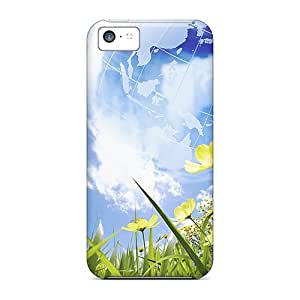 Tpu LauraGroffle Shockproof Scratcheproof Fantasy World Hard Case Cover For Iphone 5c