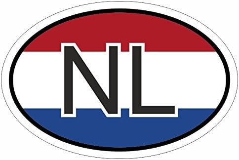 Niederlande Nl 10 X 6 6 Cm Mehrfarbig Autoaufkleber Aufkleber Kfz Flagge Auto