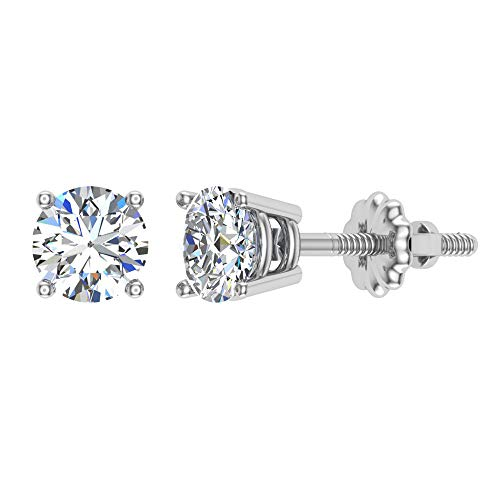 1/6 ct tw Small Four Prong Diamond Stud Earrings 14K White Gold 14k Diamond Stud Earrings