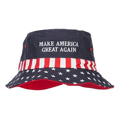 (e4Hats.com Make America Great Again Embroidered Flag Hat - Flag M )