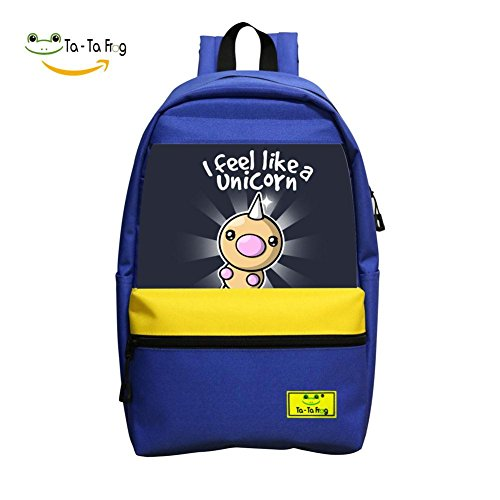 Carton Unicorn Dragon School Bag Student Backpack for Children Blue