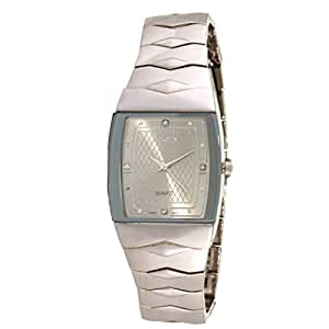 Salony Men's Gray Dial Stainless Steel Band Watch - W1010C1
