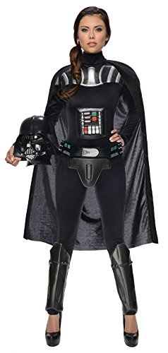 Star Wars Women's Darth Vader Woman's Deluxe Costume Jumpsuit, Multi, -