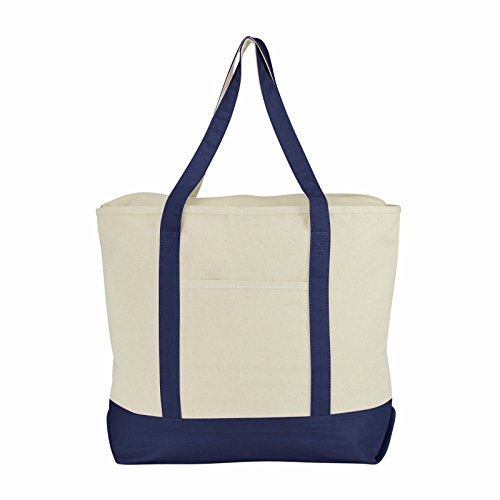Cotton Canvas Zippered Tote - 2