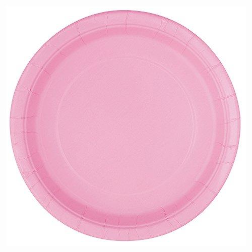 Light Pink Paper Cake Plates, 25ct (Princess Cake Plates)