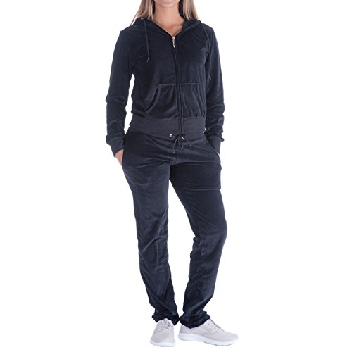 Evrimas Women's 2 Piece Outfits Velvet Zip Hoodie Sweatshirt & Sweatpants Sweatsuits and Velour Tracksuit Sets Jogging Suit (Zip Hoodies Velour Womens)