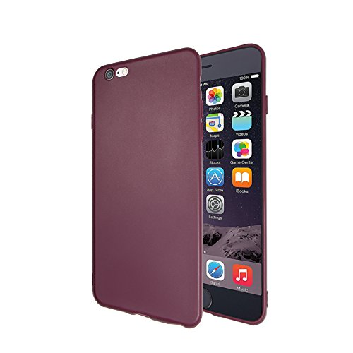 Purple Skin Fits Guitar (iPhone 6 6s Case, Liquid Silicone Gel Rubber Shockproof Case with Soft Microfiber Cloth Lining Cushion for Apple iPhone 6 6s (Dark purple))