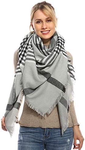 Stylish Plaid Blanket Oversized Scarf product image