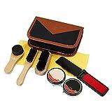 Sundlight 8 Piece Shoe Care Set,Travel Shoe Shine Brush kit for Leather Shoes,Purse,Hat,Belt