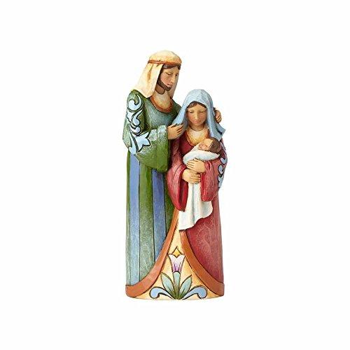 - Enesco Jim Shore Heartwood Creek One Piece Holy Family Stone Resin Nativity, 5.25