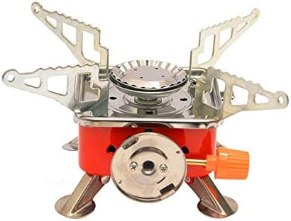 N / A utensilios de cocina Mini forma cuadrada Camping estufa Salvaje al aire libre portátil estufa Gas quemador portátil plegable utensilios de ...