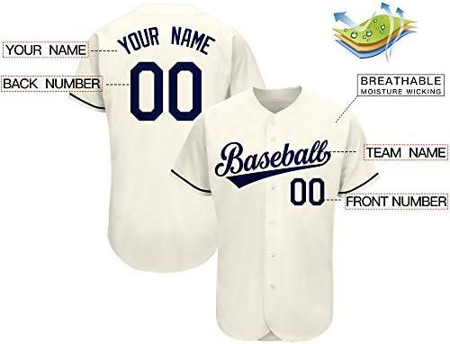 Men /& Women /& Youth Base Jugador Placket Jersey tama/ño S-3XL Custom Back Name /& Number MLB Baseball Jersey