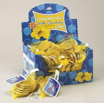 Rite Lite CH-GELT-48 Chanukah Gelt Milk Chocolatey Coins - Pack Of 48
