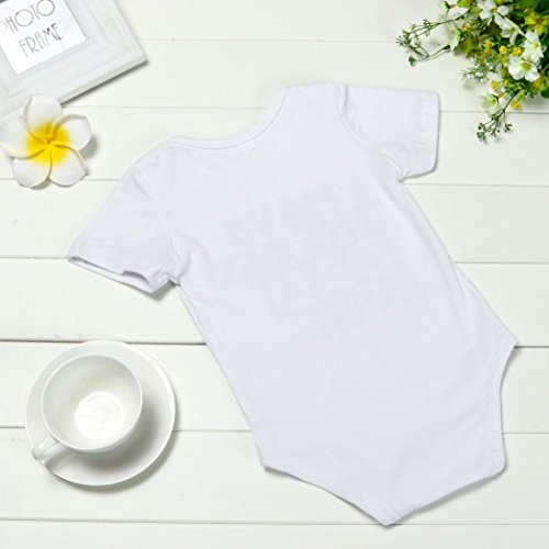 Winsummer Cotton Newborn Infant Baby Boys Girls Short Sleeve Dad Mom Bodysuit Romper Jumpsuit Outfit Summer Clothes