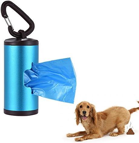 Galapara Kotbeutelspender Hunde Beutelspender aus Aluminiumlegierung Colorful Pet Poop Holder Dog Waste Dispenser Includes 15pcs Waste Bags Refillable