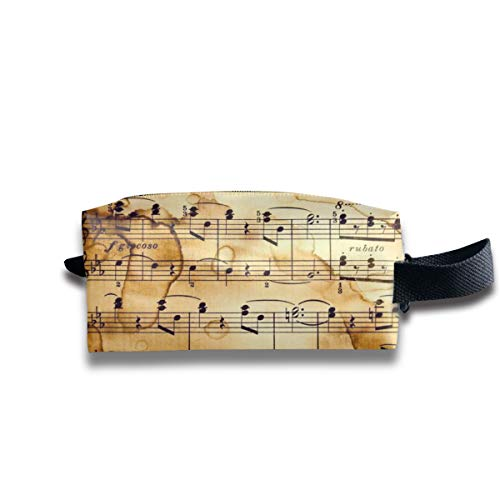 Small Toiletry Bag Musical Notes,Pencil Case,Travel Essentials Bag,Dopp Kit Bag For Men And Women With Handle]()