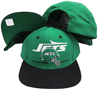 New York Jets Green/Black Two Tone Plastic Snapback Adjustable Plastic Snap Back Hat / Cap