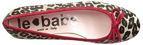 Le Babe Vrouwen Luipaard Platte Luipaard Print / Rood