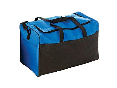 Sac de sport double en toile nylon 62 x 30 x 38 cm de couleur Noir/Bleu - Visiodirect