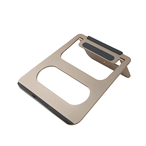 COOSKIN® Lightweight & Portable Aluminum Laptop Stand - Notebook Stand for Apple Macbook Air, Pro, iPad Tablet, Chromebook, PC ( Gold ) by COOSKIN
