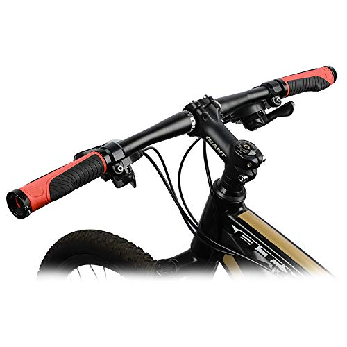 New Double Lock on Locking Grip Mountain Bike Cycling Handlebar Grips Bar End UK