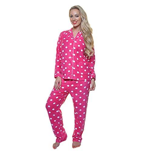 Angelina Cozy Pajama Set, 91156_Pink - Crazy Pajamas Flannel