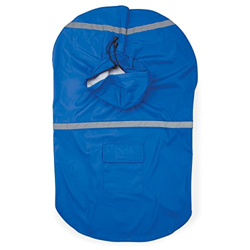 Guardian Gear Rain Jacket for Pets, Large, Blue (Guardian Gear Polyester)