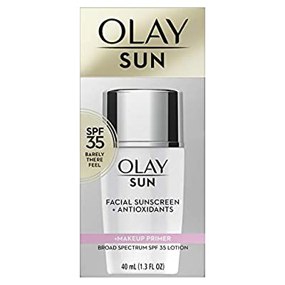 Sunscreen by Olay, SPF 35 Face Lotion + Makeup Primer, 1.3 Fl Oz