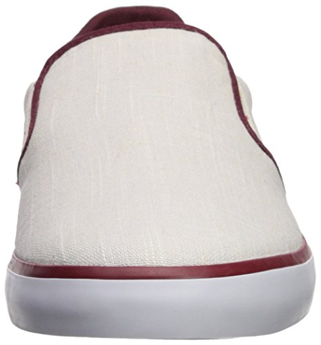 Lacoste Mens Jouer Slip On Sneaker Canvas Bianco