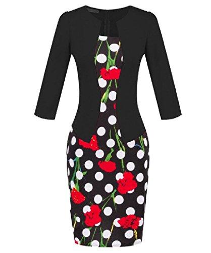 Midi To Fake Belt Dress Wear Two Work Plaid Coolred 17 Women Party Pencil TwA8pqHUU