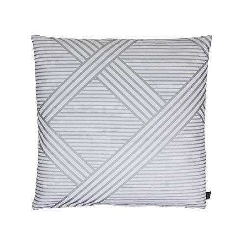 Eightmood Metropolitan Cushion White and Silver Feather Filling - Metropolitan Patio Furniture