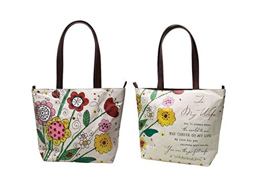 Price comparison product image To My Wife Imprinted Floral Tote