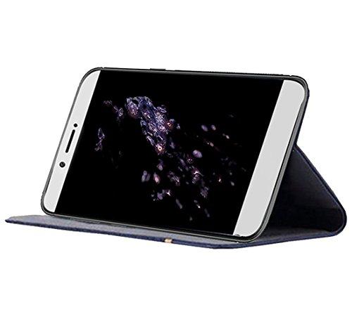 Huawei Mate 10 Funda, OFU® aspecto delgado caso, PU cuero cartera caso de visualización, cierre magnético, TPU parachoques - Huawei Mate 10 cuero flip cartera-azul marino negro