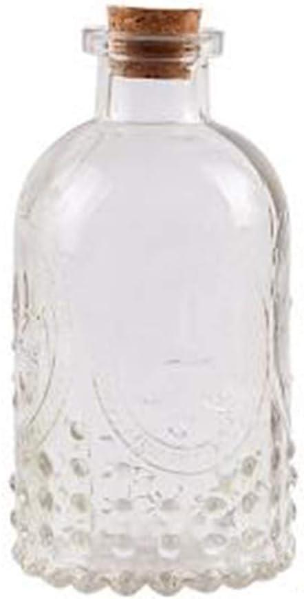 Dkhsy Vintage Design gaufr/é bouteille en verre avec couvercle en li/ège id/éal fleur vase nautique r/étro pour arrangement de fleurs conteneur mariage Home Office D/écor