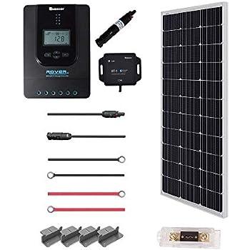 Amazon com : Renogy 100 Watts 12 Volts Monocrystalline Solar RV Kit