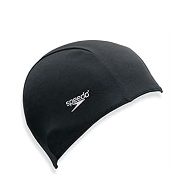 Speedo Polyester Swimming Cap - Adult Black  Amazon.co.uk  Sports   Outdoors 64ccfcd413aa