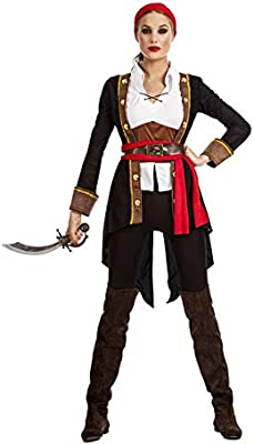 Car&Gus Disfraz de Pirata Casaca Negro para Mujer: Amazon.es ...