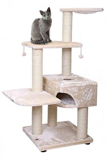 - XL para gatos Árbol Rascador para gatos gato cueva gato Dormir Espacio Crema 66 x 66 x 160 cm: Amazon.es: Productos para mascotas